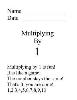 Multiplication Facts 1 through 10