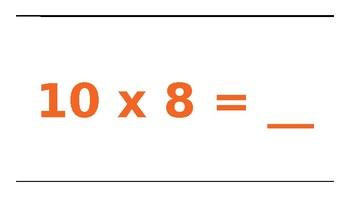 Multiplication Facts 10's and Movement
