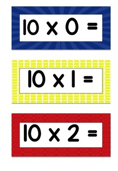 Multiplication Facts (10s) Flashcards