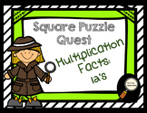 Multiplication Facts: 12's - Square Puzzle Quest