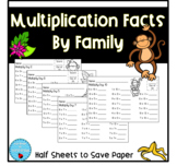 Multiplication Facts By Family