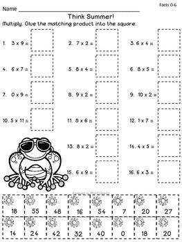 Multiplication Facts - Summer