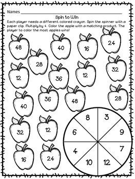 Multiplication Facts - September
