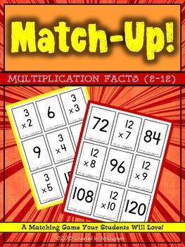 Multiplication Facts (2-12) Match-Up! MEGA Set