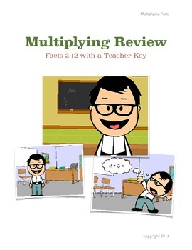 2's-12's Multiplication Formative Assessments with teacher key