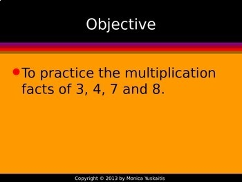 Common Core 3rd - Multiplication Facts 2 - Practice