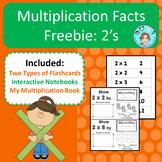 Multiplication Facts: 2's – Memorization & Practice – No P