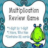 I Have Who Has Multiplication Game Printable Multiplication Fact Fluency Game