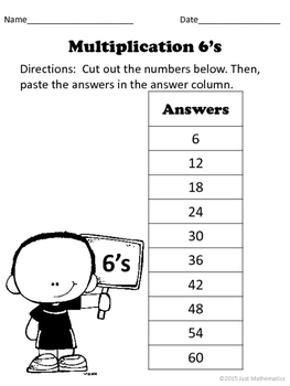Multiplication Facts 6-9