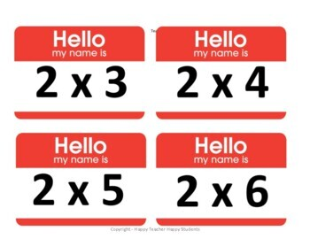 Multiplication Facts Name Tags - What a Fun Multiplication Activity!