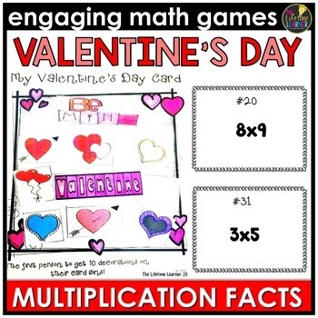 Valentine's Day Multiplication Facts