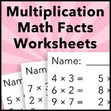 Multiplication Facts Worksheets Practice