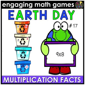 Earth Day Math Game - Multiplication Facts