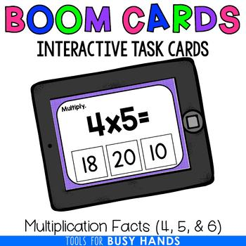Multiplication Facts 4, 5, & 6 (Boom! Deck)