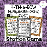 Multiplication Facts 4-In-A-Row Station Game - Halloween Themed
