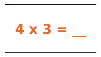 Multiplication Facts 4's and Movement