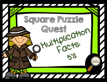 Multiplication Facts: 5's - Square Puzzle Quest