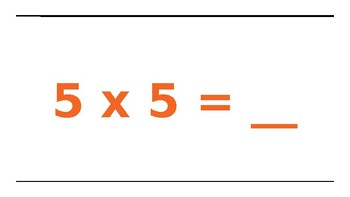 Multiplication Facts 5's and Movement
