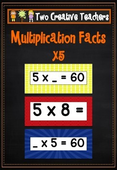 Multiplication Facts (5s) Flashcards