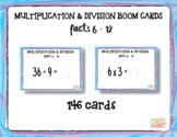 """Multiplication Facts 6-12 with Inverse Division Facts 6-12 """"Boom Cards"""""""