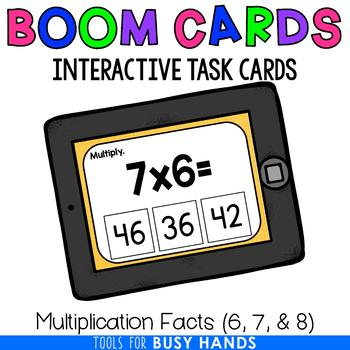 Multiplication Facts 6, 7, & 8 (Boom! Deck)