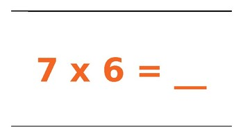 Multiplication Facts 6's and Movement