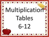 Multiplication Facts 6 to 12 PowerPoint Presentation