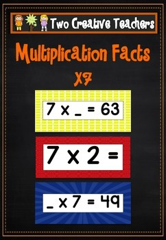 Multiplication Facts (7s) Flashcards