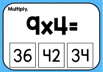 Multiplication Facts 8, 9, & 10 (Boom! Deck)