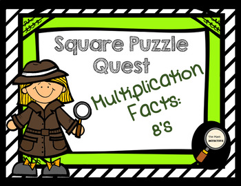 Multiplication Facts: 8's - Square Puzzle Quest