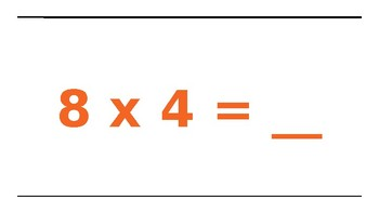 Multiplication Facts 8's and Movement