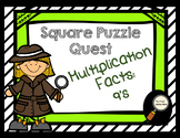 Multiplication Facts: 9's - Square Puzzle Quest