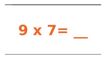 Multiplication Facts 9's and Movement
