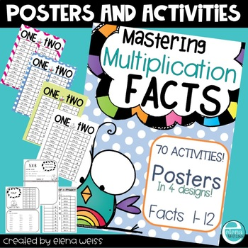 Multiplication Posters Plus 70 Activities to Promote Mastery!