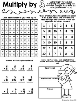 Multiplication Facts Activity Book
