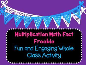 Multiplication Facts Activity Freebie