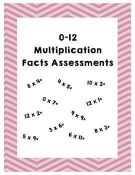 Multiplication Facts Assessment