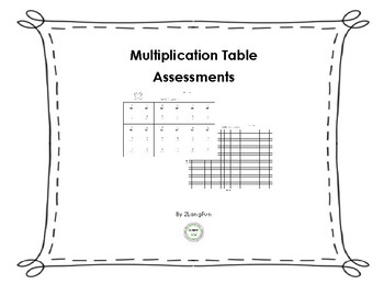 Multiplication Facts Assessments