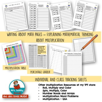 Multiplication Facts | Assessments | Checks and Tracking