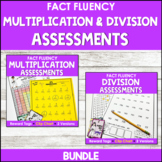 Multiplication Assessments and Division Assessments (Math Facts Bundle)