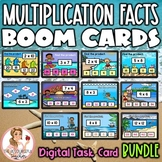 Multiplication Facts BOOM Cards BUNDLE | Beach Theme | Dig
