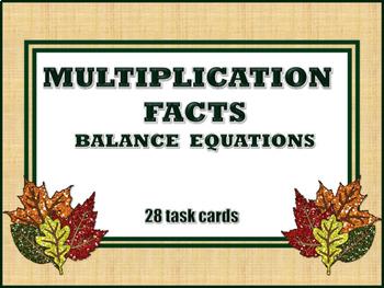 Multiplication Facts - Balance Equations