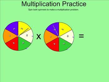 Multiplication Facts Balloon Pop (Factors 0 - 5) - Smartboard