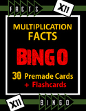 Multiplication Facts Bingo - 11s Flashcards, 30 pre-made Bingo Cards, & more!