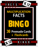 Multiplication Facts Bingo - 12s Flashcards, 30 pre-made Bingo Cards, & more!