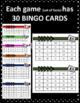 Multiplication Facts Bingo Bundle -10 games, 30 cards per game, + Flashcards!