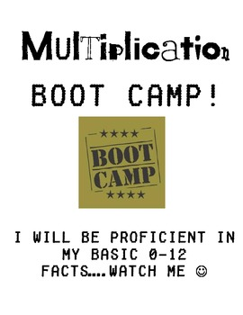 Multiplication Facts- Boot Camp Intervention 0-12