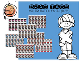 Multiplication Facts Brag Tags (Race Car)