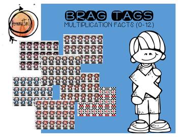Multiplication Facts Brag Tags (Race Car)