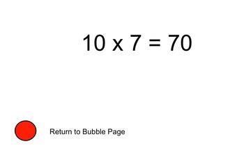 Multiplication Facts Bubbles